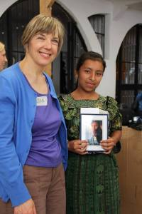 Gillian sponsors Irma Cecilia and had a chance to meet her and her mother.
