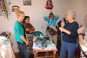 The women enjoyed looking at and buying many of the products produced by this microloan recipient.